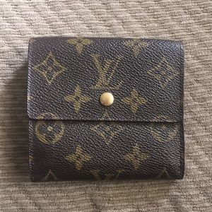 LV monogram snap wallet